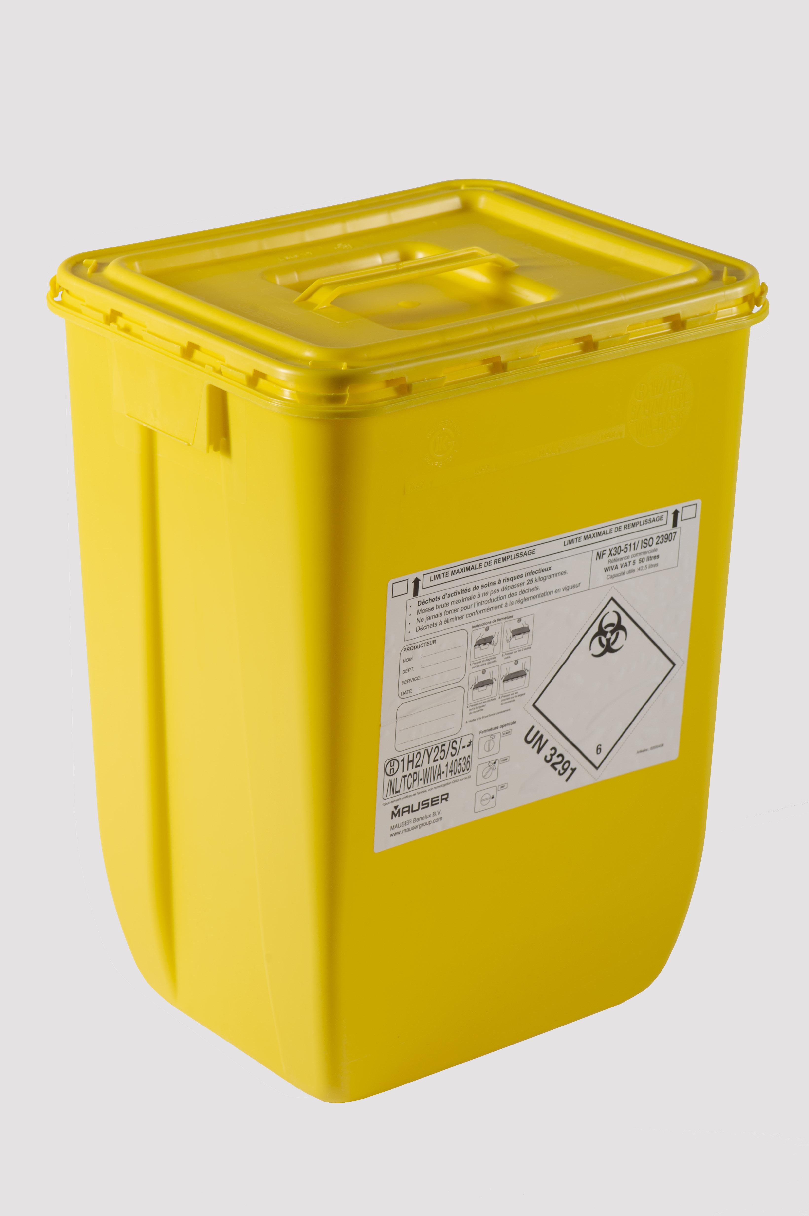 Acebox_fut_DASRI_50L-jaune_couvercle_poignée